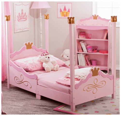 Save 51 On The KidKraft Princess Four Poster Toddler Bed Free Shipping