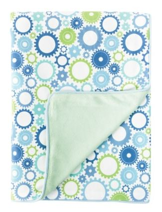 Moving Gears Nursery Blanket