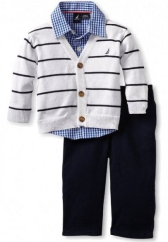 Nautica Sportswear Kids Baby Boys Infant Sweater Set