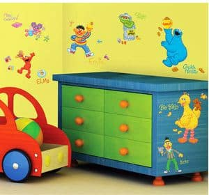 Room Mates Sesame Street Pell and Stick Wall Decals