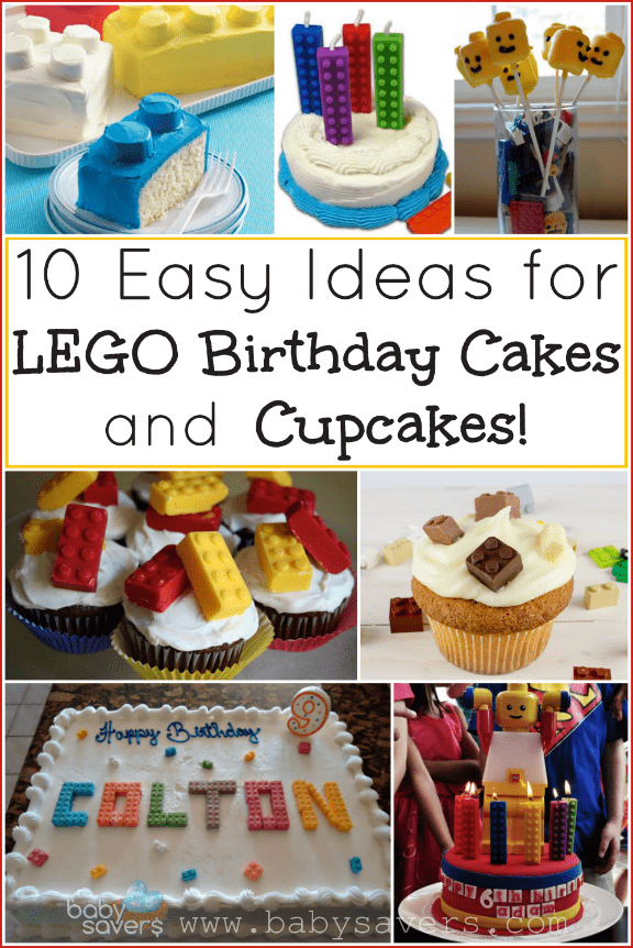 Incredible Top 10 Easy Lego Cupcakes And Birthday Cake Ideas With Tutorials Funny Birthday Cards Online Sheoxdamsfinfo