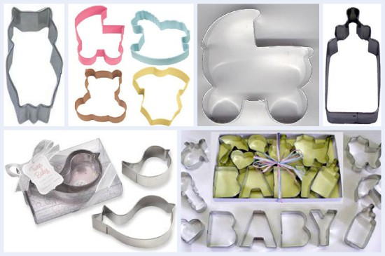 baby themed cookie cutters baby shower cookie cutters