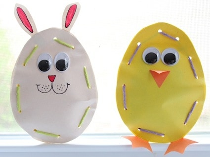 easter crafts for preschoolers candy pouches