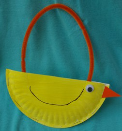 easter crafts for preschoolers chick purse