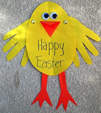 easter crafts for preschoolers handprint chick
