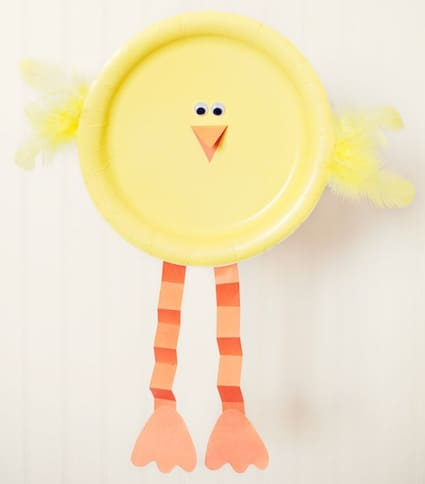 easter crafts for preschoolers plate chick