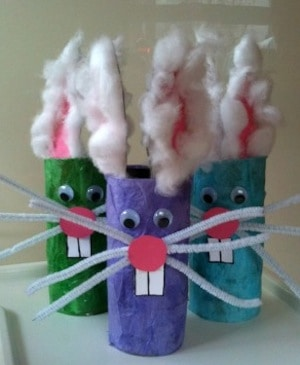 easter crafts for preschoolers toilet paper bunnies