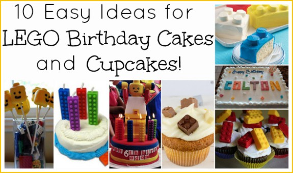 LEGO Cupcakes and Birthday Cakes