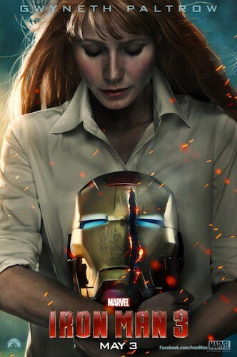 Iron Man 3 poster Gwyneth Paltrow