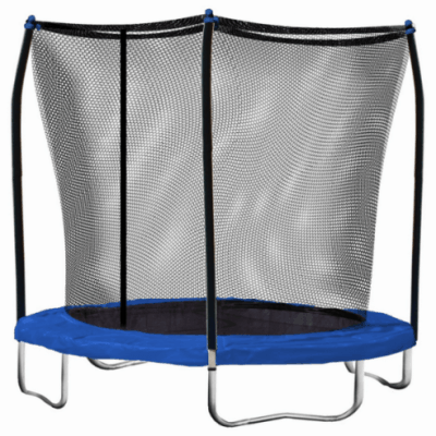 Save 57% on the Skywalker 8-Feet Round Trampoline with Safety Enclosure Combo + Free Shipping!