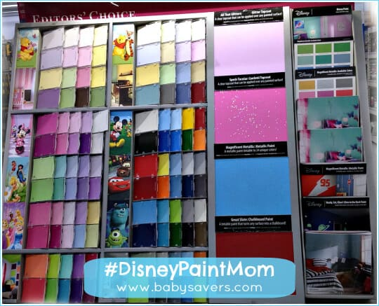 disney glidden paint display