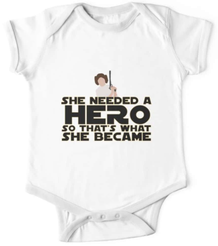 Star Wars onesie princess leia She needed a hero