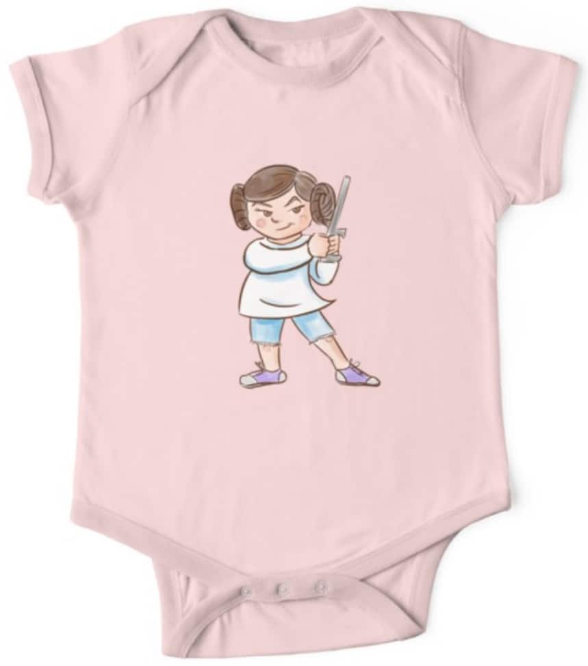 Star Wars onesie adorable leia pink