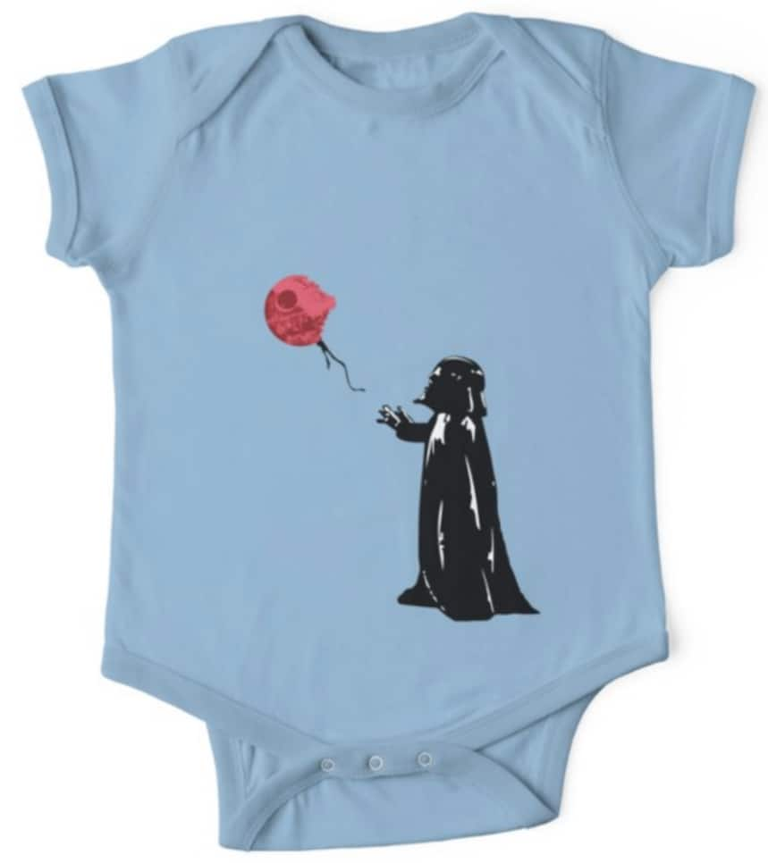 Star Wars onesie Darth Vader Death Star Balloon
