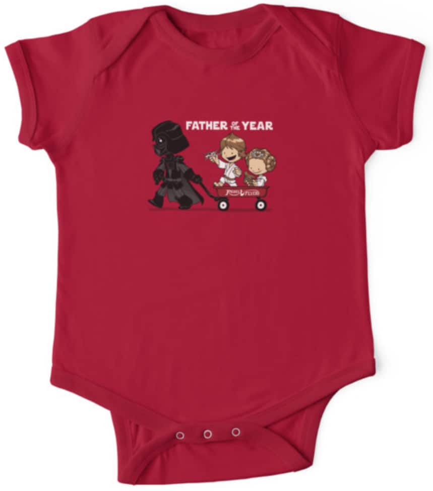 Star Wars onesie best dad ever red