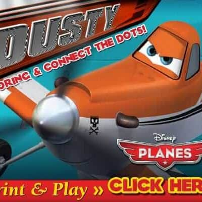 New FREE Disney PLANES Printables: Airplane Connect the Dots and Coloring Pages!