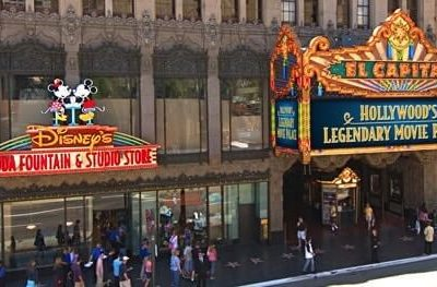 The Famous El Capitan Theater + the Real Disney Vault at the Disney Soda Fountain in Los Angeles