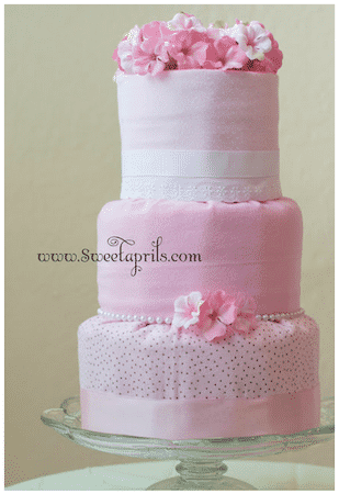 how to make a diaper cake fondant