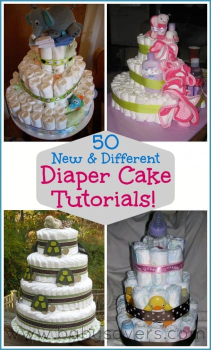 How To Make A Diaper Cake 50 Diy Diaper Cake Tutorials