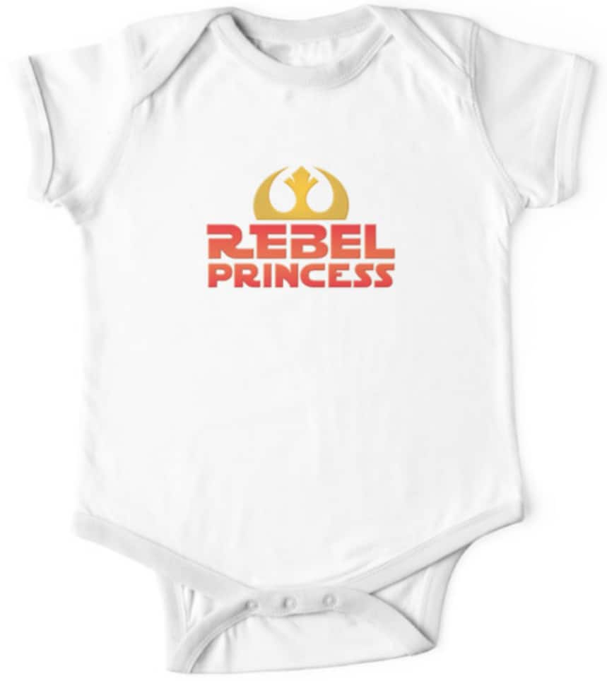Star Wars onesie rebel princess