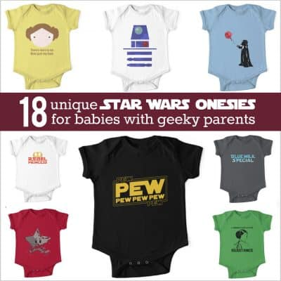 Star Wars onesie assortment