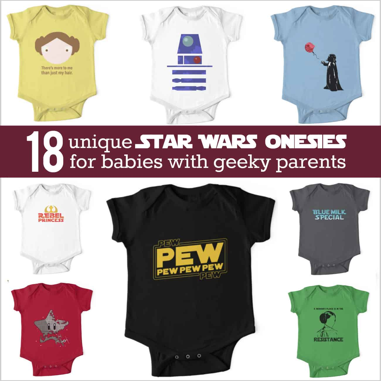 70504bac2 The Cutest Star Wars Onesie: 18 Adorable Shirts for the Geeky Baby