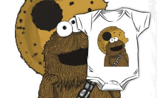star wars wookie monster cookie monster onesie