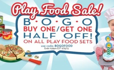 Melissa & Doug Promo Code:  Buy One, Get One Half Off on all Play Food Sets!