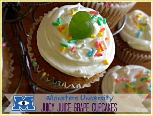 Monster juice cupcakes