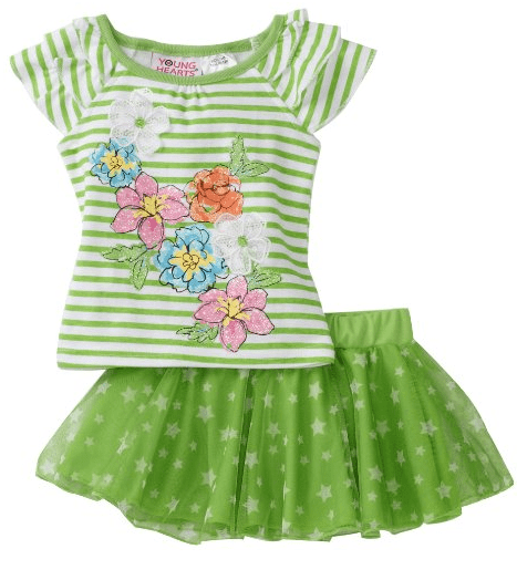 Save on the Young Hearts Baby Girls Stripe Top With