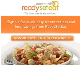 Sign up with Ready Set Eat for FREE! Printable Coupons + Easy Dinner Recipes!