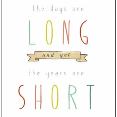 The Days are Long and yet the Years are Short