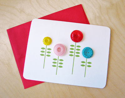 button crafts for kids: notecard