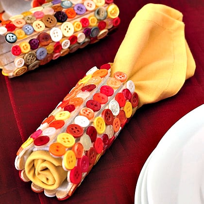 button crafts for kids: diy napkin rings