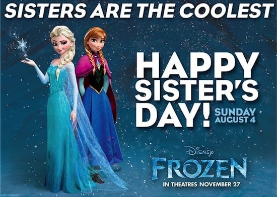 frozen sister day
