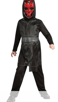 Kids Woot! Deals: Save 60% on the Rubie's Star Wars Sith Lord Dress Up – Darth Maul Costume