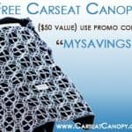 FREE Carseat Canopy ($50 Value)! Just pay shipping! Fun NFL Patterns Available!