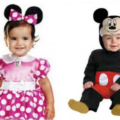 Mickey or Minnie Mouse Baby Costumes just $14.97, Free Shipping Eligible!