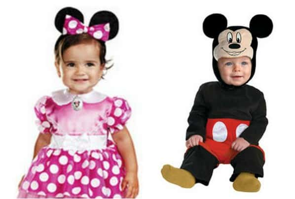 mickey or minnie mouse baby costumes just 1497 free shipping eligible - Baby Mickey Mouse Halloween Costume