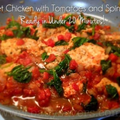 chicken with spinach and tomatoes