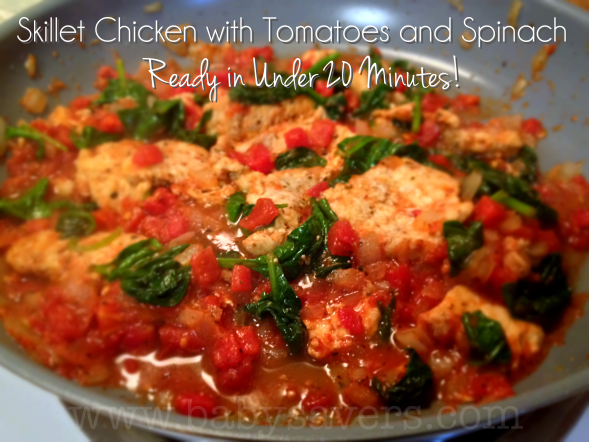 chicken recipe with spinach and tomatoes
