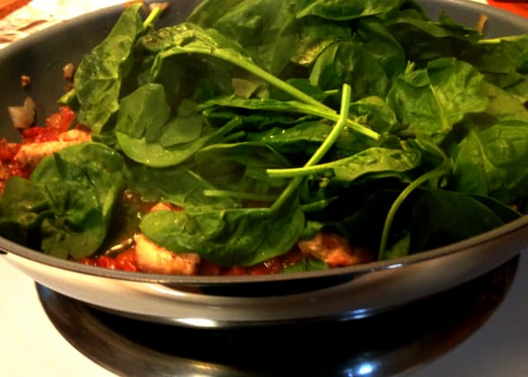 chicken recipe canned tomatoes spinach