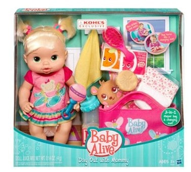 Kohl S Hasbro Baby Alive Day Out With Mommy Doll Set 13