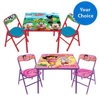 Character Corner Toddler Activity Table Chairs Set Just Free Sh