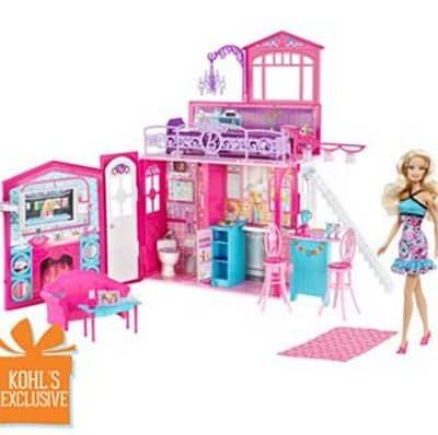 Kohl's: Barbie Glam Dollhouse and Doll Set just $27.19