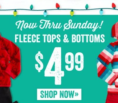 Crazy8: Fleece Tops & Bottoms just $4.99!