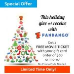 Fandango Gift Cards: Spend $50 Get a FREE Movie Ticket!