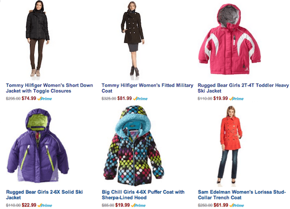amazon deals on jackets