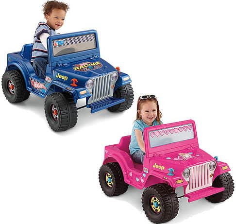 Today only, Walmart is offering the Fisher-Price Power Wheels Jeep in