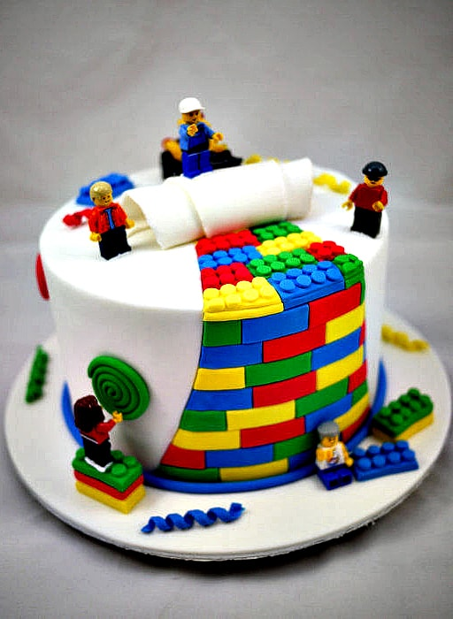 LEGO Birthday Cake Idea